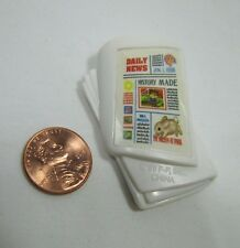 NEW! FISHER PRICE Loving Family Dollhouse DOLL NEWSPAPER Miniature Plastic Paper