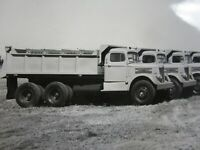 Vintage White Super Power Dump Truck Heil Equipment SF CA Orig Photo 1940's