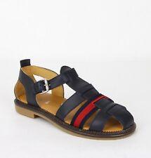 579e7519c Gucci Boy Children's Blue Leather Sandals w/Red Blue Web 32/US .5