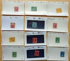 US STAMPS Lot of (12) Various old Hawaii Stamps, Used & Unused