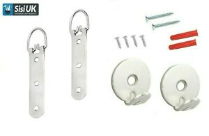 HEAVY DUTY LARGE PICTURE MIRROR HANGING NICKEL KIT UP TO 23kg SCREW PLUG HANGER