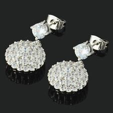Sterling Silver 4mm Round Rose Zircon CZ Stud Earrings SE385