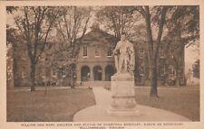 (T)  Williamsburg, VA - William and Mary College - Statue of Norborne Berkeley