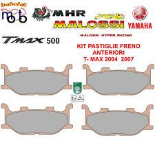 KIT 4 PZ PASTIGLIE ANTERIORI MHR SYNT MALOSSI YAMAHA T-MAX TMAX 500 ANNO 2006
