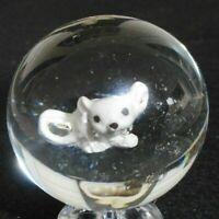 "SAM Sammy L. Hogue Signed SLH 97 Handmade 1 1/2""  Mouse Sulphide Marble mint"