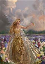 Nene Thomas Fairy Innocence LE Limited Edition Print Faery Field Flowers Birds