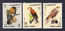 Umm-al-Qiwain Briefmarken 1968 Greifvögel Mi.Nr.228+30+31