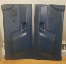 OEM 1987-91 FORD f150 F-250 F-350 BRONCO DOOR PANELS PANEL SET GRAY BLUE