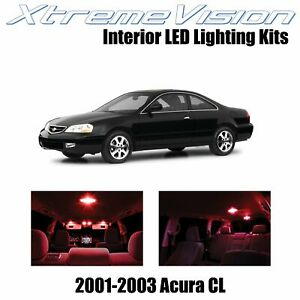 XtremeVision Interior LED Kit for Acura CL 2001-2003 (6 Pieces) Red White