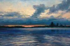"""Morning on the lake"" original, canvas, oil. artist Vladislav Shurganov"