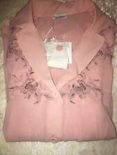 La Perla Liaison Collection Silk Georgette Pajama Set S Pink