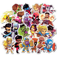 100 Marvel DC Superhero Spiderman Batman Superman Hulk Kids Stickers Stickerbomb