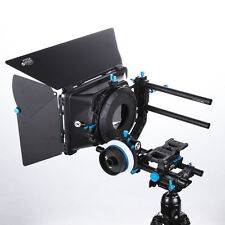 FOTGA DSLR Follow Focus A/B Stop+Matte Box M3+15mm Rail Rod Cheese Baseplate Rig