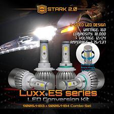 9006 9005 LED Total 160W 18000LM Combo Headlight High 6000K White 3-Side Kit (B)