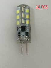 10X G4 3W Led Bulb Capsule AC/DC12V SMD Lamp 24LED Dimmable Cool White Light