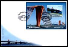 Rigaer Südbrücke. FDC. Block. Lettland 2009