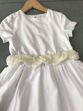 ZARA 5 / 6 ans 🌸  Robe été cérémonie blanche, ceinture fixe de fleurs