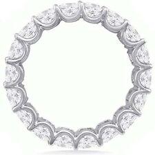4.95 ct Asscher Cut Diamond Eternity Band 14k Gold Ring 19 x .25-.26 F-G Vs sz 6