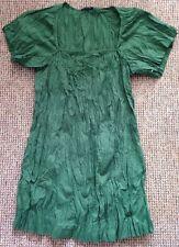 Sisley Gorgeous Green Crinkle Tunic Size M Bn