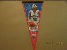Nba Detroit Pistons Vintage #32 Richard Hamilton Photo Baseketball Pennant