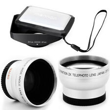 37mm 16:9 Hood,Wide Angle,Tele Lens for Samsung HMX-H100,H104,H105,H106,SCD-23