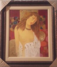 """Arbe - """"Courier of Love"""" Original Mix media on Canvas. Hand Signed,Framed W/Cert"""