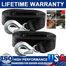 """2"""" X20' Marine Boat Trailer Replacement Winch Strap W/Hook Towing 10000lbs 2Pack"""