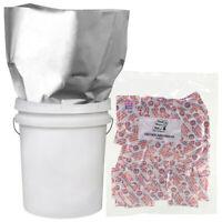 10-2 GALLON 14x20 Mylar Bags + 10-1000cc Oxygen Absorber Long Term Food Storage