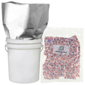 10-2 GALLON 14x20 Mylar Bags 5.25 MIL + 10-1000cc Oxygen Absorber Food Storage