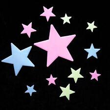 100 Wall Glow In The Dark Stars Sticker Kid Bedroom Nursery Room Ceiling DecorFH