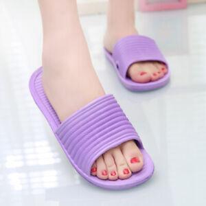 Indoor Shower Bath Slippers Women Men Non-Slip Home Bathroom Slippers Shoes Size