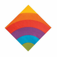 Rainbow Party Luncheon Paper Napkins - Party Supplies - 16 Pieces
