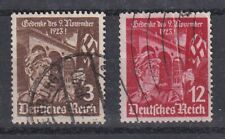 GERMANY 1935 12th ANNIV OF FIRST HITLER PUTSCH SG 595-96 SET 2 USED.