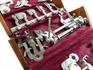 Restored Antique Singer Sewing Machine 1889 Oak Puzzle Box — Red Velvet