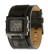 Rip Curl BRONX DIGITAL LEATHER WATCH Mens Waterproof Watch A2380 Midnight Black