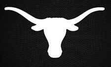"Texas - Longhorns - Icon - NCAA - White Vinyl Sticker Decal 6"" car/truck decal"
