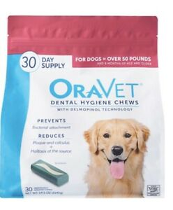 Oravet Dental Hygiene Chews Dogs Over 50lbs 30ct By Merial