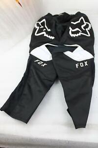 FOX RACING 180 PRIX PANTS BLACK / WHITE MENS SIZE 28 #23923-018-28