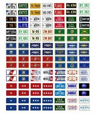 1/24 1/25 scale model car USA military government license plates tags