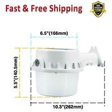 LED Flood Light 250 W Dusk to Dawn Photocell White Housing Corrosion Resistant