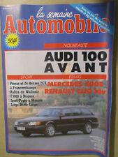 LA SEMAINE AUTOMOBILE: n°261: 12/10/1991: AUDI 100 AVANT - MERCEDES 500E - CLIO