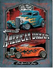 HOT RODS GREAT AMERICAN DREAM CAR METAL TIN SIGN VINTAGE RETRO F.U.M. TOOLS FUM