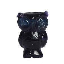 Natural Amethyst Owl Figurine 82.4 Gram Certified Gemstone statue EF-537