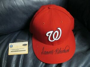 Frank Robinson autographed Washington Nationals Hat Steiner Certified