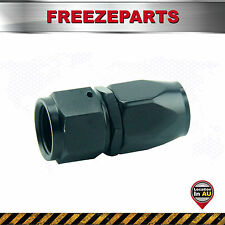 AN-8 8AN AN8 Straight Fuel Swivel Fitting Hose End Oil Fuel Adaptor Black Paint