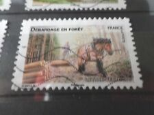FRANCE 2013 timbre  AUTOADHESIF 824 CHEVAL, DEBARDAGE, HORSE oblitéré VF STAMP