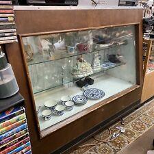Vintage Retail Glass Display Case Full Vision Wood 6' Showcase