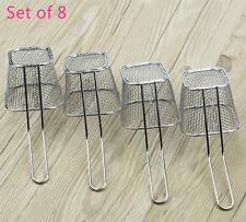 Set of 8 Kitchen Mini Chip Baskets Mini Fryer Serving Food Presentation Basket