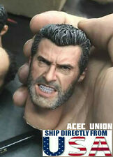 1/6 Logan Wolverine Head Angry Version For Old Hugh Jackman X-men U.S.A. SELLER