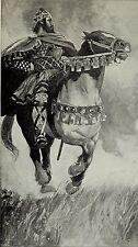 Vercingetorix Horseback Roman Camp Gallic King Gaul France 7x4 Inch Print